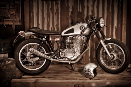 YAMAHA SR 500 CAFERACER YARDBUILT ACE CAFE UMBAU TOP SPEED PATINA FASTER SONS ASCHAFFENBURG
