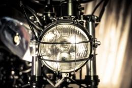YAMAHA SCRAMBLER UMBAU CROSS SR500 YARDBUILT TOP SPEED ALUTANK FLAT TRACK LAMPE PULVERBESCHICHTET GITTER LAMPENGITTER