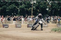 yamaha flat track schräglage dirt track umbau staub race goldbach top speed